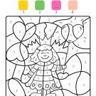 Dibujo mágico de una princesa: dibujo para colorear e imprimir