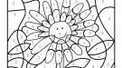 Dibujo mágico de una margarita: dibujo para colorear e imprimir