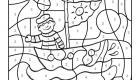 Dibujo mágico de un marinero en su barco: dibujo para colorear e imprimir