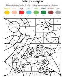 Dibujo mágico de una tienda de campaña: dibujo para colorear e imprimir