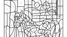 Dibujo mágico de un caballito: dibujo para colorear e imprimir