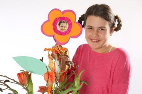 Flor portarretrato para regalar. Manualidades infantiles