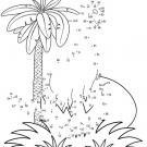 Dibujo de unir puntos de dinosaurio: dibujo para colorear e imprimir