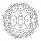 Mandala de letras: dibujo para colorear e imprimir