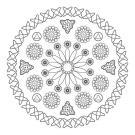 Mandala microscópica: dibujo para colorear e imprimir