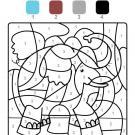 Dibujo mágico de un elefante: dibujo para colorear e imprimir