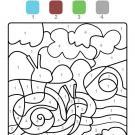 Dibujo mágico de un caracol: dibujo para colorear e imprimir