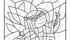 Dibujo mágico de un hada: dibujo para colorear e imprimir