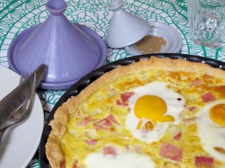 Tarta oriental de jamón y huevos: receta fácil paso a paso