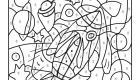 Dibujo mágico de un cohete: dibujo para colorear e imprimir