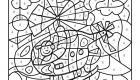 Dibujo mágico de helicóptero: dibujo para colorear e imprimir