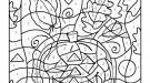 Dibujo mágico de una calabaza: dibujo para colorear e imprimir