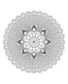 Mandala de pavo real: dibujo para colorear e imprimir