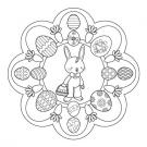 Mandala de Pascua: dibujo para colorear e imprimir