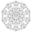 Mandala de Papá Noel: dibujo para colorear e imprimir