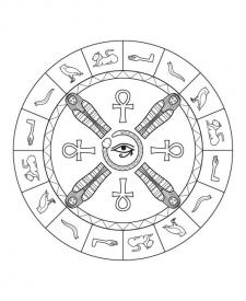 Mandala egipcia: dibujo para colorear e imprimir