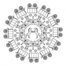 Mandala Lejano Oeste: dibujo para colorear e imprimir