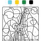 Dibujo mágico de una jirafa: dibujo para colorear e imprimir