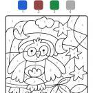 Dibujo mágico de un búho: dibujo para colorear e imprimir