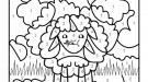 Dibujo mágico de una oveja: dibujo para colorear e imprimir