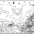 Dibujo de unir puntos de búho volando: dibujo para colorear e imprimir