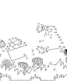 Dibujo de unir puntos de un carro: dibujo para colorear e imprimir