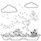 Dibujo de unir puntos de canguro: dibujo para colorear e imprimir