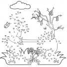Dibujo de unir puntos de un conejo: dibujo para colorear e imprimir