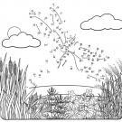 Dibujo de unir puntos de libélula: dibujo para colorear e imprimir