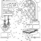 Dibujo de unir puntos de un mago: dibujo para colorear e imprimir