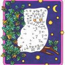 Dibujo de unir puntos de pájaro nocturno: dibujo para colorear e imprimir