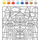 Dibujo mágico de un castillo: dibujo para colorear e imprimir