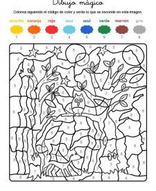 Dibujo mágico de fantasma en el bosque: dibujo para colorear e imprimir