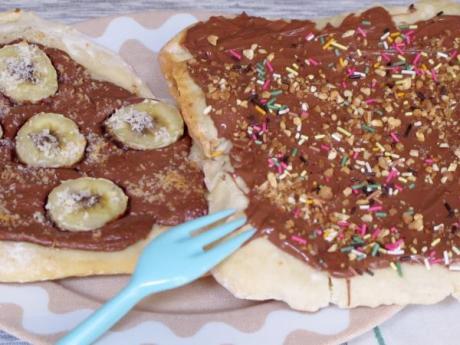 Pizza de Nutella: Recetas infantiles