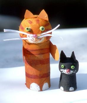 Figuras de gatos : Manualidad infantil para jugar