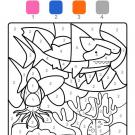 Dibujo mágico de un tiburón: dibujo para colorear e imprimir