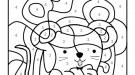 Dibujo mágico de un ratón: dibujo para colorear e imprimir