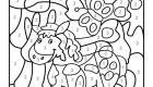 Dibujo mágico de un poni: dibujo para colorear e imprimir