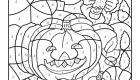 Dibujo mágico de calabaza y araña: dibujo para colorear e imprimir