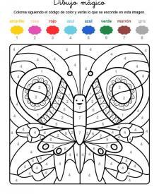 Dibujo mágico de una mariposa: dibujo para colorear e imprimir