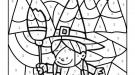 Dibujo mágico de una brujita: dibujo para colorear e imprimir