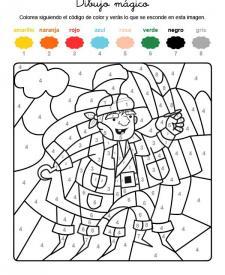 Dibujo mágico de un pirata: dibujo para colorear e imprimir