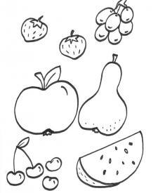 Dibujos Para Colorear Con La Palabra Frutas
