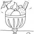 Copa de helado: dibujo para colorear e imprimir