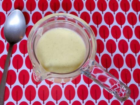 Receta de crema inglesa para cocinar con niños