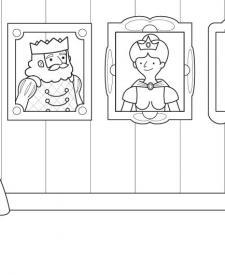 La retrato de la princesa: dibujo para colorear e imprimir