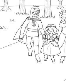 Princesa patinando: dibujo para colorear e imprimir