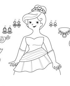 El baile de máscaras: dibujo para colorear e imprimir
