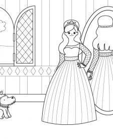 El gran baile de la princesa: dibujo para colorear e imprimir