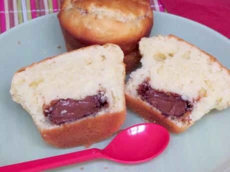 Receta de magdalenas rellenas de crema de chocolate